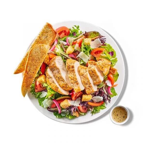 Garden Chicken Salad with Toast 5