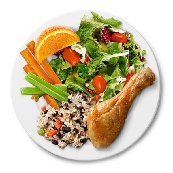 Garden Chicken Salad with Toast 6